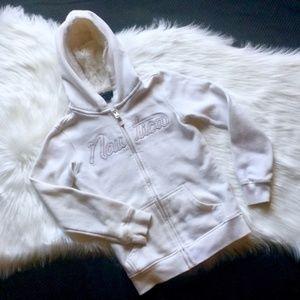 Nautica Fleece Lined Zip-Up Hoodie